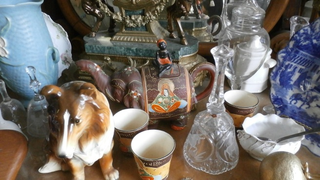 Vintage nic nacs, china, and glassware